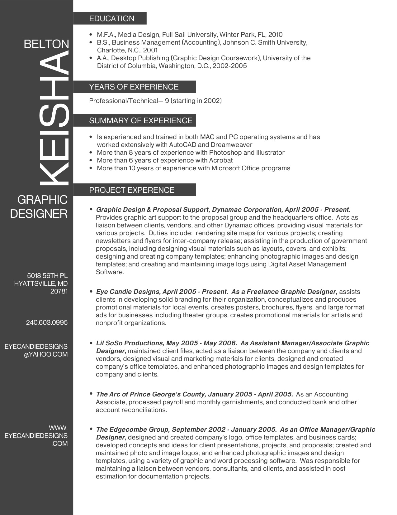 Resume Samples New Media Communications