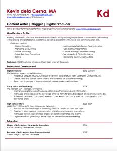 Content Resume