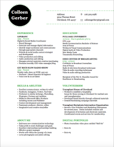 Digital Media Resume